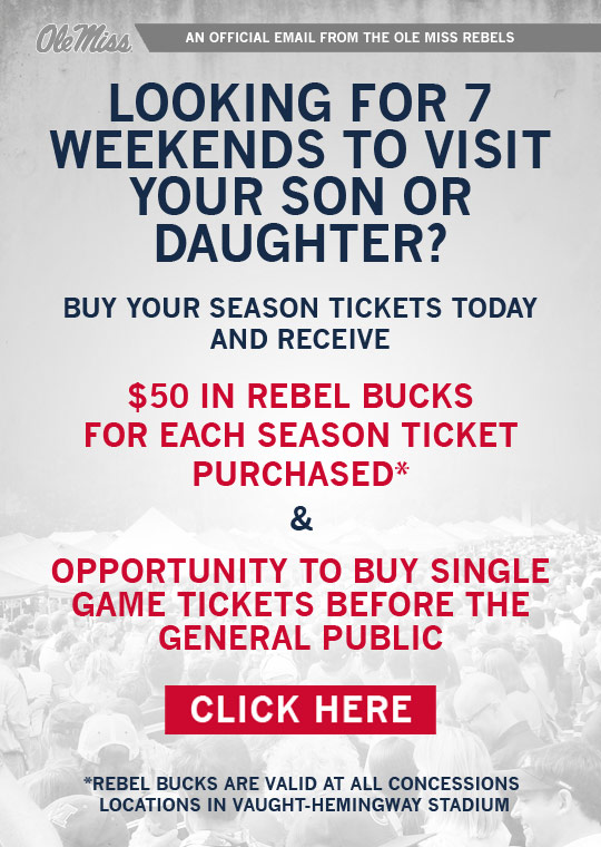 Special offer for season ticket holders